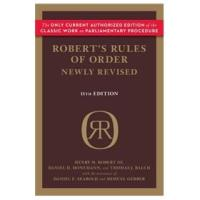 Robert'sRulesofOrderNewlyRevised,11thedition
