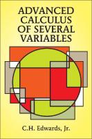 AdvancedCalculusofSeveralVariables(DoverBooksonAdvancedMathematics)