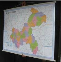 挂图包邮】2014年重庆市地图挂图重庆地图重庆挂图(横版)1.1米*0.8米重庆全图