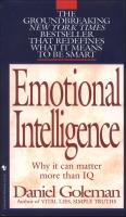 EmotionalIntelligence情商:为什么情商比智商更重要英文原版