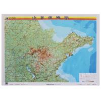 山东省地形图约1.1*0.8米中国分省立体地图精雕3D凹凸立体优质地图挂图