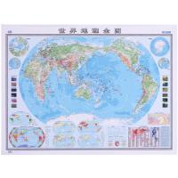 【新店特惠】世界地理全图1.1x0.8m贴图挂图学生专用时区气候洋流无折痕卷筒发货