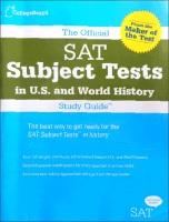 TheOfficialSATSubjectTestsinU.S.HistoryandWorldHistory