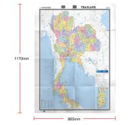 【官方直营】泰国世界热点国家地图国内出版中外文对照大字版折挂两用