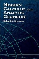 ModernCalculusandAnalyticGeometry(DoverBooksonMathematics)