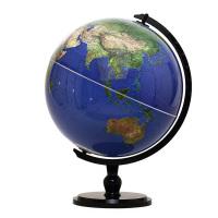 博目地球仪:32cm中文卫星影像地球仪(炫影黑架)