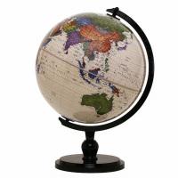 博目地球仪:25CM中英文政区仿古地球仪(炫影黑架)