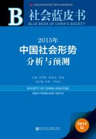 社会蓝皮书:2015年中国社会形势分析与预测