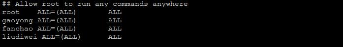 CentOS给普通用户加sudo权限