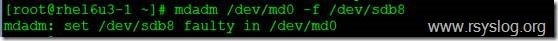 Centos系统下模拟RAID5损坏,数据自动切换到备份磁盘上
