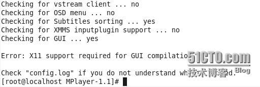 CentOS下源码安装mplayer播放器
