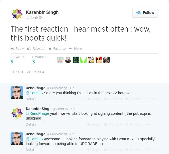 CentOS 7 的 RC 版本 将在72小时内发布