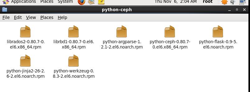 CentOS中ceph的安装(rpm包依赖安装)