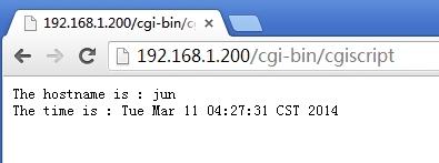 Apache下httpd服务器实现CGI