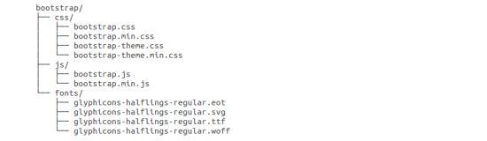 Bootstrap目录结构